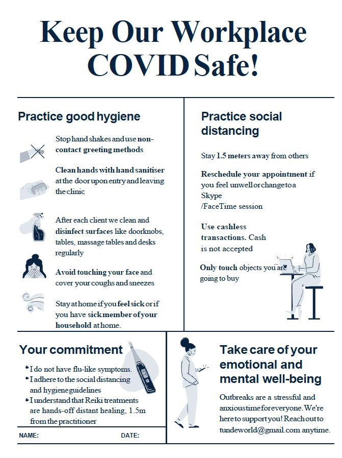 Covid Safe place form